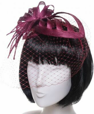 Seeberger Fascinator Bacca Red Cerchiello per Party Sposa Copricapo Capelli