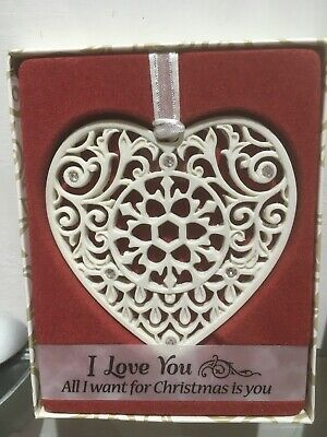 I Love You - All I Want For Christmas Is You - Ornament Swarovski® Decoration