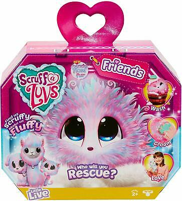 Scruff-A-Luvs Friends Rescue Pet Soft Fluffy Toy Candy Floss Kids Fun Play Gift