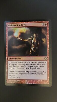 1 Vicious Shadows = Red Shards of Alara Mtg Magic Rare 1x x1