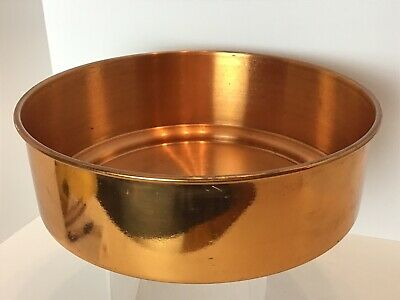Solid COPPER Serving Dish Bowl WILLIAM PRYM Mexico Germany OVER 2 Lbs Large