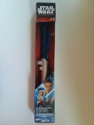 Star Wars The Force Awakens Rey Electronic Lightsaber New NIB Blue Disney 22""