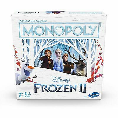 Disney Frozen 2 Movie Edition Monopoly Board Game for Ages 8 and up