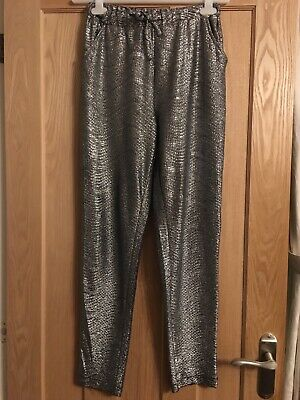 Next girls silver party trousers age 11 years