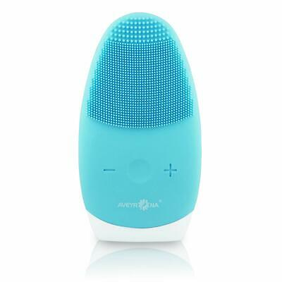 Sonic Face Brush, Silicone Facial Scrubber Electric Cleanser and Massager