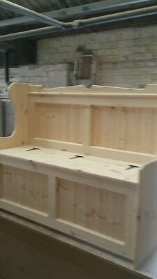 4ft Church Pew , Monks Bench / Settle  storage seat