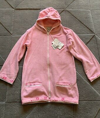 Elizabeth Hurley Girls Towelling Zip Up Robe From Harrods Age 8-9 New With Tags