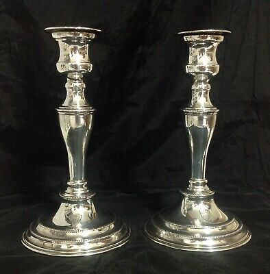 Vintage Welsh Silver Plated CandlestIcks, Plated On Copper In The Georgian Style