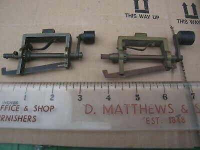 X2 Vintage or Antique Small Vice Mounted Brass Clock Mainspring Winding Tool