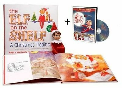 Elf on The Shelf A Christmas Tradition Blue-Eyed BOY with DVD Movie FREE SHIP