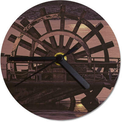 'Water Mill' Printed Wooden Wall Clock (CK041544)