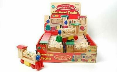 Wooden Toy Educational Train Numbers OR Alphabet Gift Ackerman International