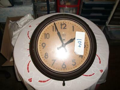 Smiths Untested Bakelite Electric Wall Clock. In Need Of Refurbishment C1955.