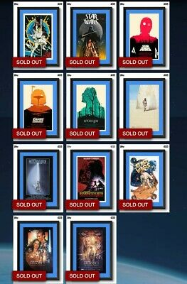 Star Wars Card Trader (Topps SWCT) - POSTERS, FULL SET+Award, Blue (Uncommon)