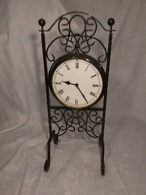 Rare Antique Primitive Clock Floor Clocks Metal Stand with Suspended Clock