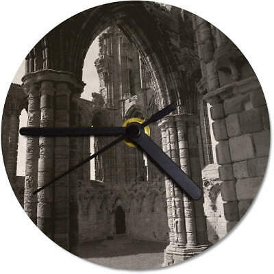 'Whitby Abbey' Printed Wooden Wall Clock (CK055152)
