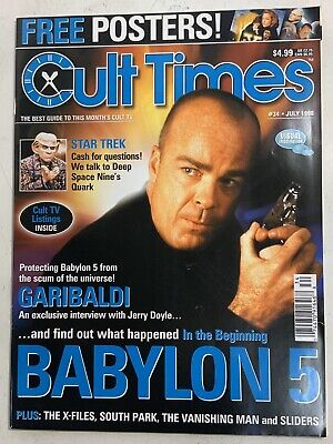 Cult Times The Best Of Cult TV Issue#34 July 1998 Babylon5 Jerry Doyle Garibaldi