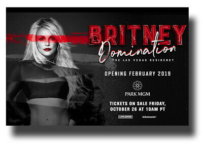 Britney Spears Tour 2020.Britney Spears Poster 2020 Concert 11 X17 Domination Tour
