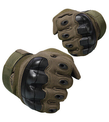 SALE Hard Knuckle Gloves Full Finger Touch Screen Tactical Rubber Army Style