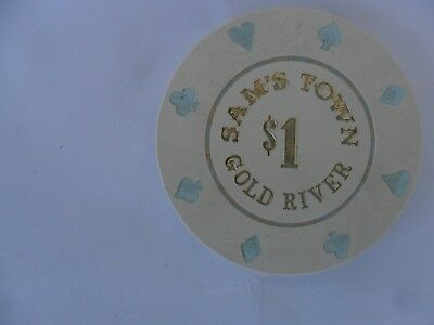 $1 Sams Town Gold River Casino Chip