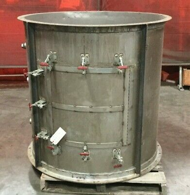 "Stainless Steel Cylindrical Housing / 48""H x 45"" Diameter / 330 Gallon"