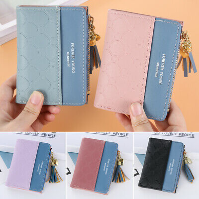 Women's Fashion Bifold Wallet Clip Leather Wallets ID Card Holder Coin Purse