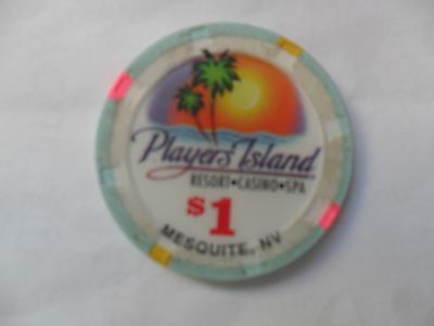 $1 Players Island Resort Casino Chip