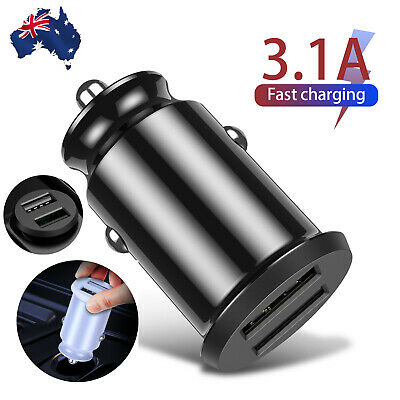 3.1 A Fast Charing Dual USB QC3.0 Car Charger Cigarette Lighter Socket Adapter