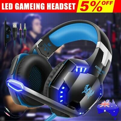 3.5mm MIC LED Gaming Headset Headphones for Laptop PC PS4 Slim Pro Xbox One 360