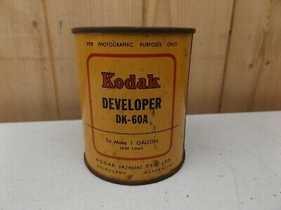 Vintage Can Of Kodak Dk-60A Developer Makes 1 Gallon