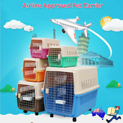 Airline Approved Cat Dog Portable Tote Crate Pet Carrier Kennel Travel Carry Bag