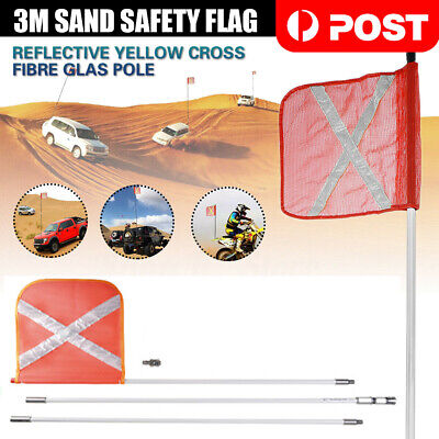 3M High Sand Safety Flag 4WD Vehicle Towing Offroad Touring 4x4 Simpson Desert
