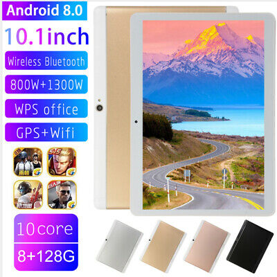 """10.1"""" Tablet PC HD Android 8.0 8G 128G 10-Core bluetooth WIFI Dual Camera SIM"""