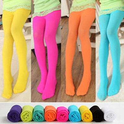 Girls Children Full Length Cotton Leggings Kids Pants All Ages +12 Colours Party