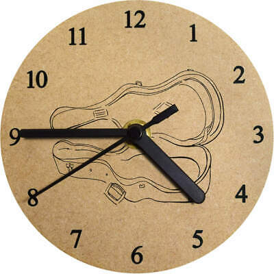 'Guitar Case' Printed Wooden Wall Clock (CK011871)