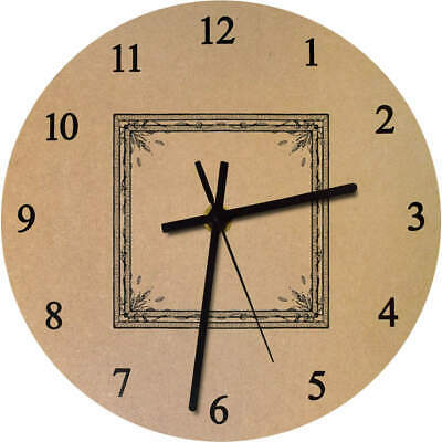 'Ornate Frame' Printed Wooden Wall Clock (CK012917)