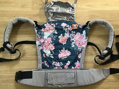 TULA Baby Carrier FLORA BLUE  with all accessories ** Toddler/standard LOOK**