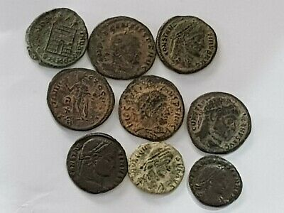 Fantastic Top Lot Of 8 Ancient Roman Bronze Coins
