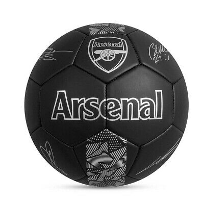 Arsenal FC Phantom Signature Team Merchandise Football Soccer Ball Black -Size 5