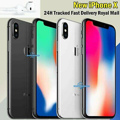Unlocked Sim Free Apple iPhone X 256GB 64GB Various Colours New Smartphone UK