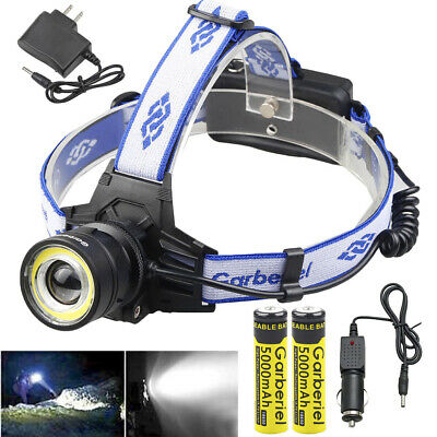 900000LMS T6 Zoomable LED Headlamp Rechargeable 18650 Headlight Head Torch Light
