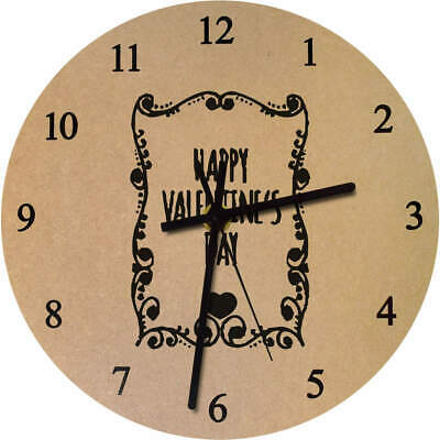 'Valentine's Day Frame' Printed Wooden Wall Clock (CK015986)