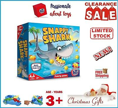 HTI Toys Traditional Games Hungry Snappy Shark Family Board Game For Kids Adults