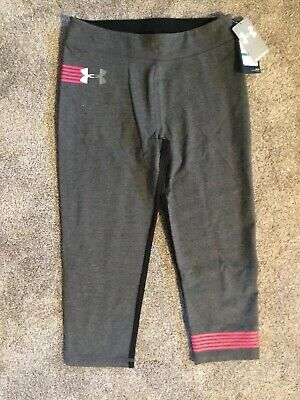 Youth girls capri pants Under Armour $30. Size 10/12 Large  NWT