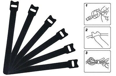 5 - 100 pcs of cable ties 12x150 mm hook and loop