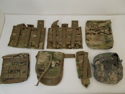 LOT OF 7 US Army Military Molle II Pouches Magazine, First Aid, Tourniquet, Medi