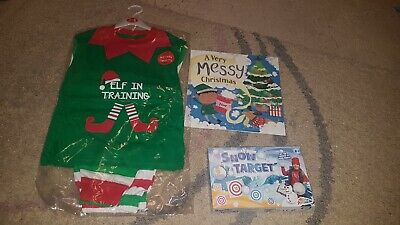 brand new christmas eve pyjama set book and game unisex age 5-6 years