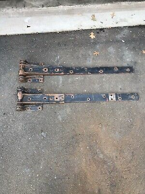 Old Cast Iron Richmond Fireproof Door Strap Hinges -Pair-