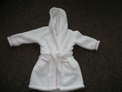 Girls JasperConrad White Hooded Dressing Grown, age 2 to 3  in good condition