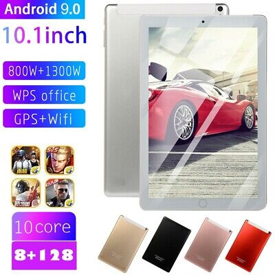 """10.1"""" 4G-LTE/WiFi Tablet PC 8G+128G Android 9.0 10Core Dual Camera Google GPS"""